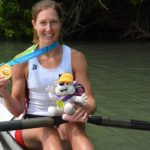 Mary Jones won the LW1x at the 2015 Pan American Games. Photo: USRowing